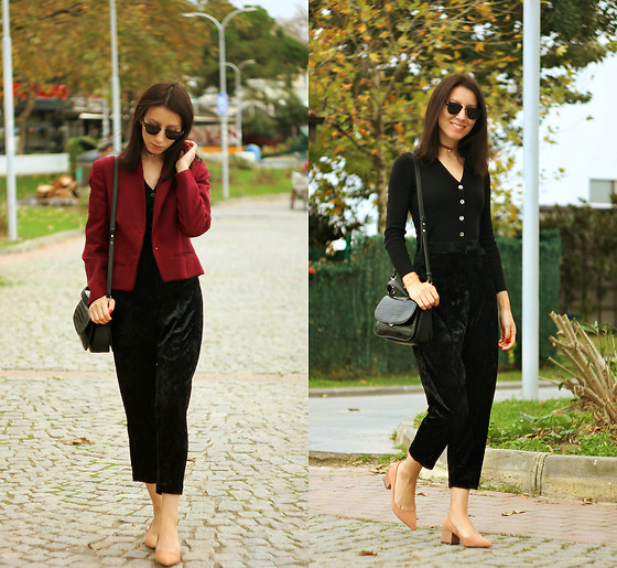 Elzara Muslimova - Zara Heels, Zara Pants, Mango Bag, Zara Chocker - Perfect Wednesday