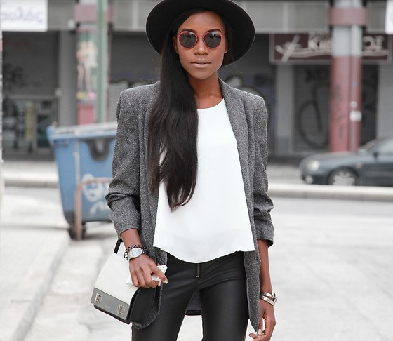 Rachel O. - H&M Fedora, Michael Kors Bette Colorblock, Nicole Vienna Marble, Glass Of Brixton Sunglasses - The unlikely accessory that will transform your OOTD