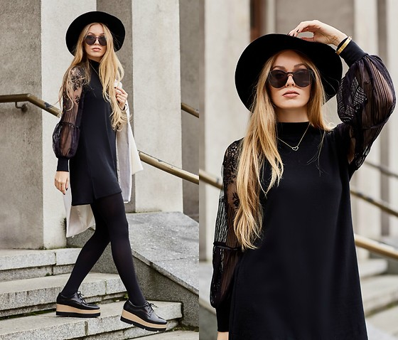 Marta Caban - Zerouv Glasses, Zaful Dress - LITTLE BLACK DRESS