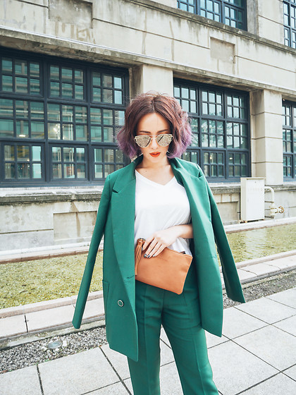 Natalie Tien -  - Green suit