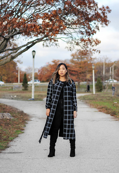 Jenn Hanft - Vipme Checkered Lapel Coat - Thanksgiving Ready