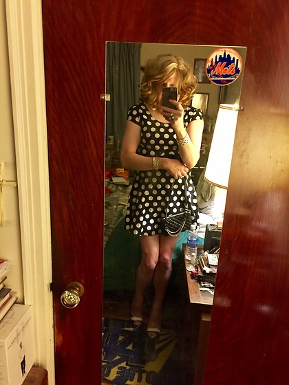 Jennifer S - Express Polka Dot Dress, Shoedazzle Heels, Express Mini Bag, H&M Bracelet, Vintage Ring - Back In Polka Dots