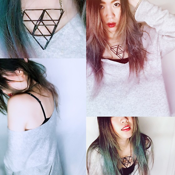 REDWAY REDWAY - H&M Cloth - Triangle necklace