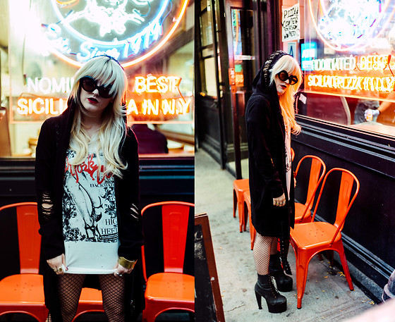 Rachel Lynch - Punk Rave Black Hoodie Sweater - Chungking express