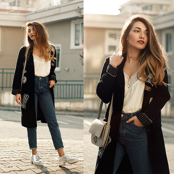 Melike Gül - Romwe Cardigan, Romwe Top, Zara Mom Jeans - Almost Pajamas