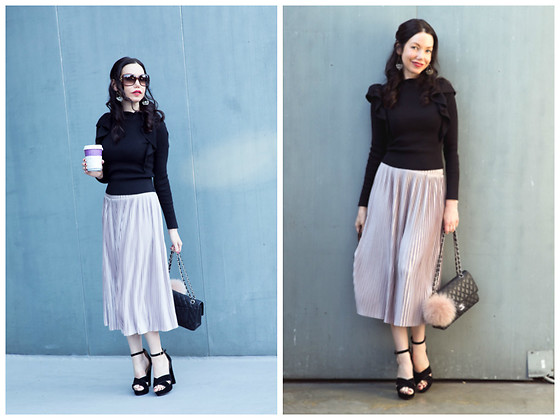 Lisa Valerie Morgan - Zara Skirt, Furla Bag Charm, Chanel Bag - How to Style A Casual Holiday Look