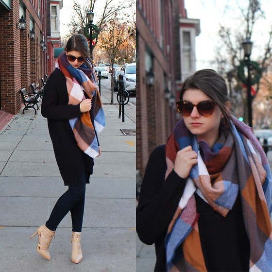Tracie Marie - Tobi Boyfriend Sweater, Asos Blanket Scarf - Baby it's Cold Outside