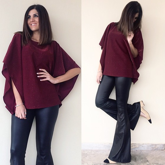 Virginia Kar -  - Burgundy & Lurex | thevirgostyle.blogspot.gr