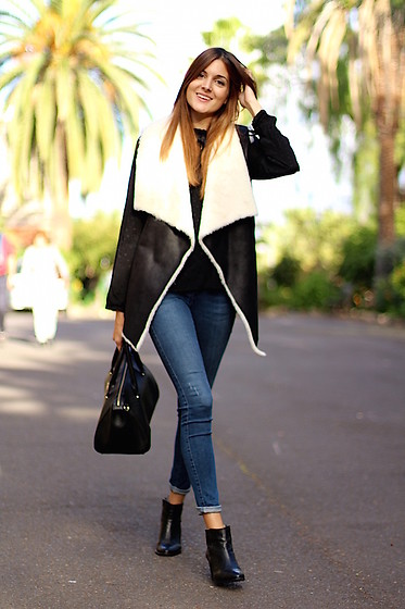 Marianela Yanes - Shein Vest, Zara Jeans, It Shoes Booties - Black Sunday