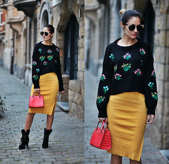 Ruxandra Ioana - Romwe Sweater, Gamiss Skirt, Dresslily Boots - Life goes on