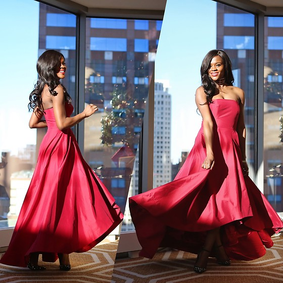 Jenn I - White House Black Market Red Ball Gown - Have a Ball