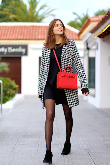Marianela Yanes - Sheinside Coat, Mango Bag, Zara Dress - Touch of Red