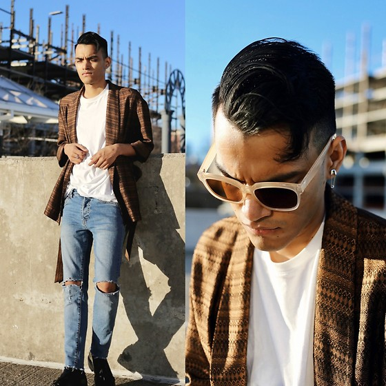 Alejandro Cantoral - & Other Stories Blazer, Zara Earing, Wear Me Pro Sunnies - REBEL YELL