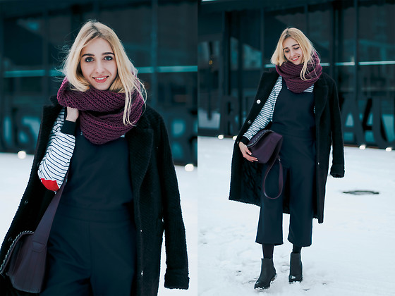 Anna Pogribnyak - The Lace (Ukrainian Brand) Coat, Must Have (Ukrainian Brand) Jumpsuit, Gor (Ukrainian Brand) Boots - Winter #madeinukraine outfit