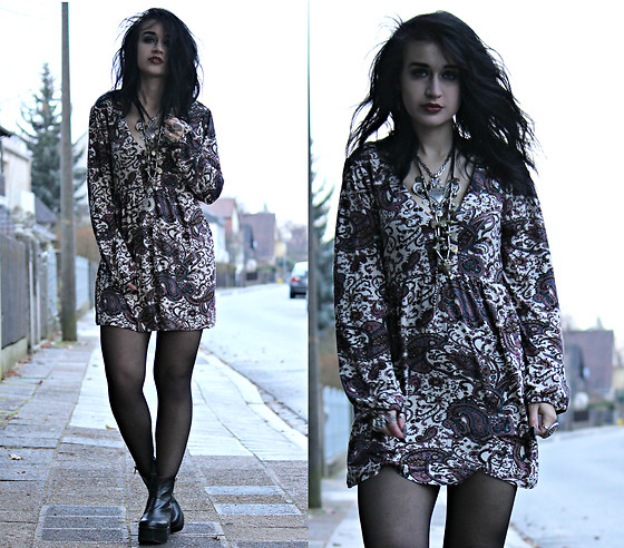 Tessa Diamondly - Vintage Paisley Dress - I Can't Quit You Baby.