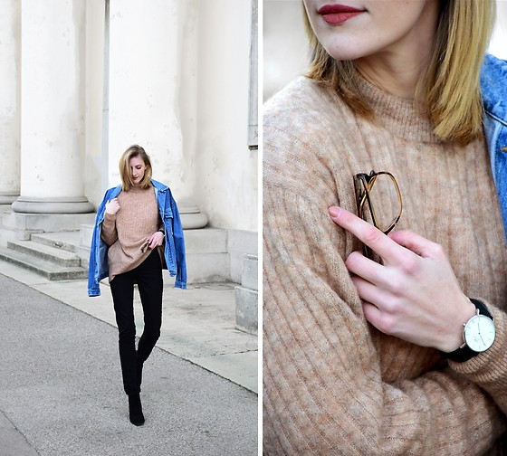 Katarina Vidd - All On My Blog, H&M Nude Sweater - Mohair sweater.