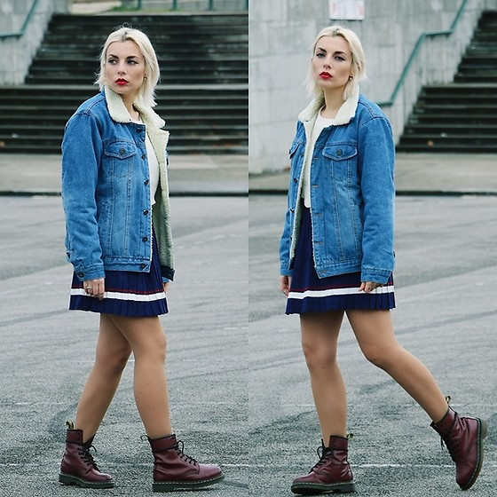 Cátia Gonçalves - Zaful Denim Jacket, Gamiss Skirt, Gamiss Sweater, Dr. Martens Boots - I'm your hell I'm your dream I'm nothing in between