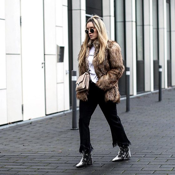Fashiontwinstinct - Mango Bag, Asos Jeans, Topshop Fake Fur Jacket - Furry.