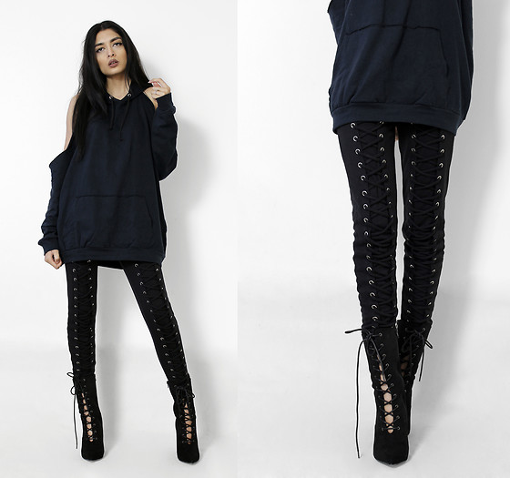 Yatri P - Boohoo Hoody, Missguided Joggers, Boohoo Boots - CUT OUT HOODIES