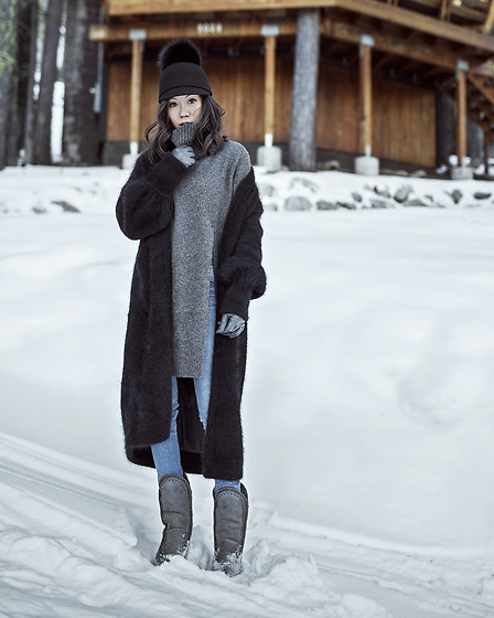 Jenny Tsang - Bytsang Fuzzy Cardigan Coat - South Lake Tahoe
