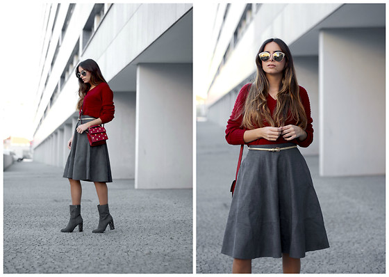 Bárbara Marques - Timeout California Sweater, Timeout California Skirt, Primark Boots, Zara Bag, Miu Sunglasses - Special edition
