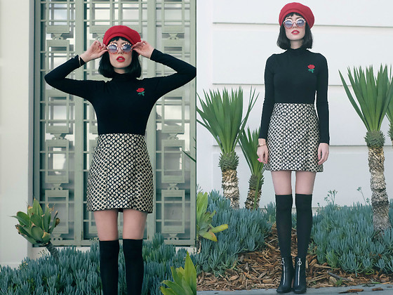 Amy Roiland - Brixton Beret - The hidden rose //