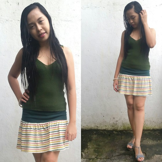 Honey Frauline - Green Knitted Top - Greenery
