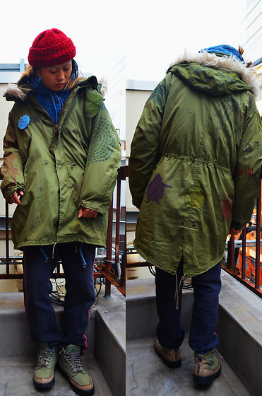 Konsii - Army Fav怪panted Coat, Japan Vintage 火消しpants, Nike Zion, H.I シャッポ(Hand Knit) - 寒気(cold day)