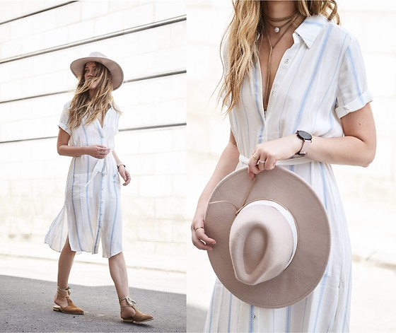 Gabrielle Lacasse - Forever 21 Camel Hat, Revolve Light Dress, Raye Tight Up Shoes - Blown away