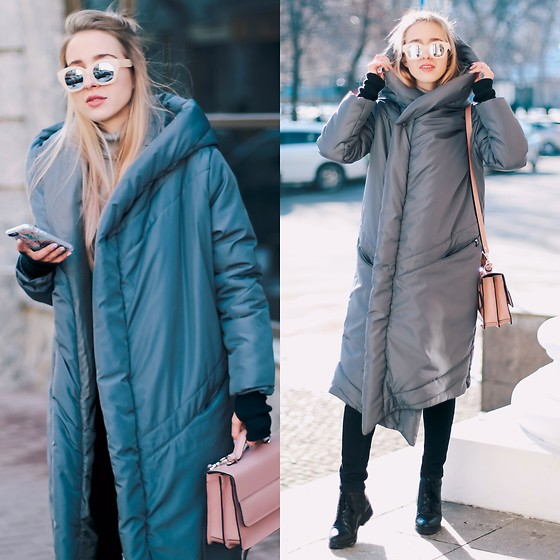 Anna Pogribnyak - Aliens (Ukrainian Brand) Coat, Level (Ukrainian Brand) Bag, Zerouv Glasses - Take your blanket and go outside