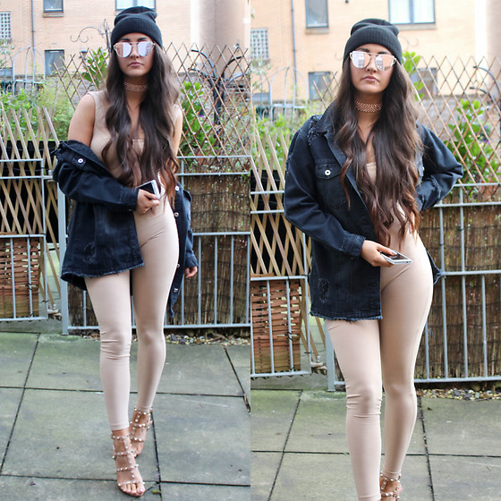 Terri L - Missguided Jacket, Missguided Shoes, Forever 21 Jumpsuit - IN THE NUDE