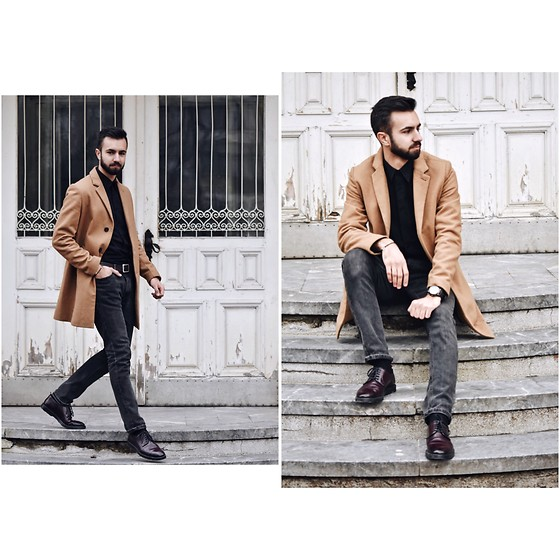 Baris Sabic - Springfield Coat, Springfield Shirt, Bershka Jeans, Andre Shoes - Coated