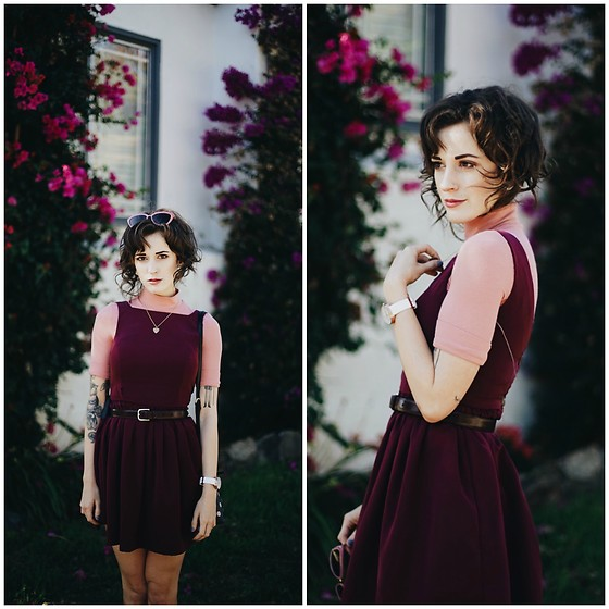 Kiana Mc - American Apparel Dress - Pink+Port