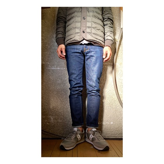 Keysyu Takagi - Uniqlou Outer, Nudie Jeans, Saucony Shoes - Outfit
