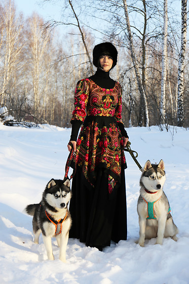 Aleksandra L. - Russian Handmade Dresses Dress, Zara Hat - RUSSIAN WINTER