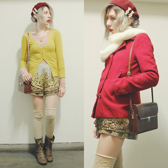 Candy Thorne - Thrifted Shorts, Forever 21 Boots - Uptown wood sprite