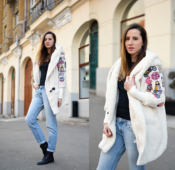 Miha Teicu - Patched Lamb Wool Coat - Patch it up