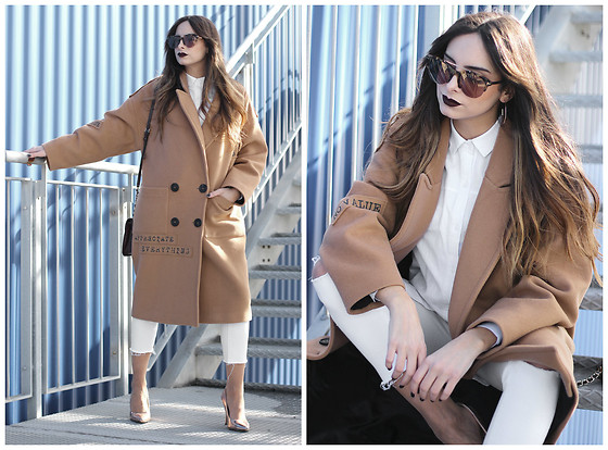Bárbara Marques - Zara Coat, Zara Shirt, Zara Pants, Seaside Heels, Tom Ford Sunglasses, Guess Bag - Contradicting