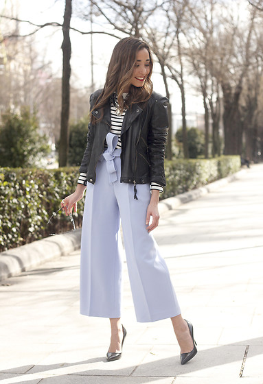 Besugarandspice FV - Uterqüe Pants, Zara Jacket - Light Blue Culotte Pants