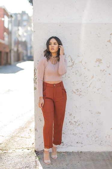 Ralizabeth Orellana - Charlotte Russe Top, Forever 21 Pants, Charlotte Russe Shoes - Orange Crush