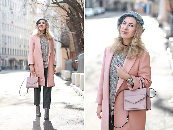 Margarita Maslova - Zara Pink Coat, Rebecca Minkoff Bag, United Colors Of Benetton Pants - SPRING IS HERE