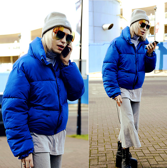 Milex X - Fak By Sunglasses, Adidas Hat, New Look Jacket, Primark Sweater, Arthur Apparel Pants, Buffalo Platforms - DOWN JACKET