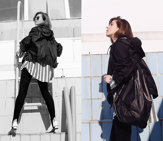 Sirma Markova - H&M Studio Black Jacket, H&M Studio Silk Shirt, H&M Premium Quality Shoes, H&M Studio Bag - The Sportswear Pices | H&M Studio SS 17