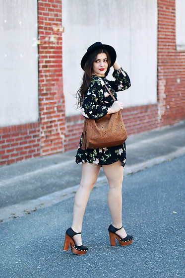 Carly Maddox -  - Little Black Floral Dress