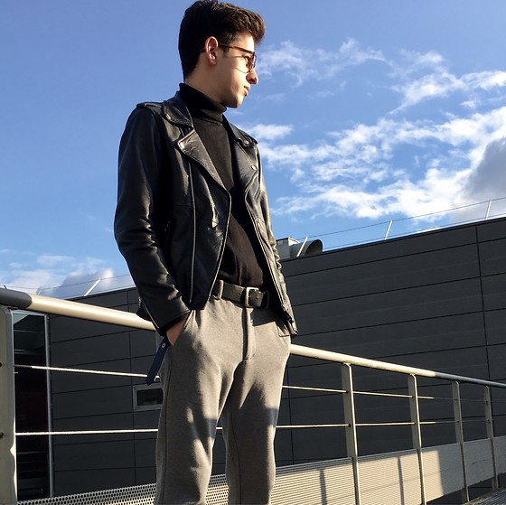 JeanbonBeurre - Uniqlo Pant, Marty & Gus Leather Jacket, Uniqlo Pull - Classy