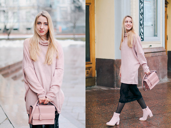 Anna Pogribnyak - Light In The Box Boots - How to wear pink color