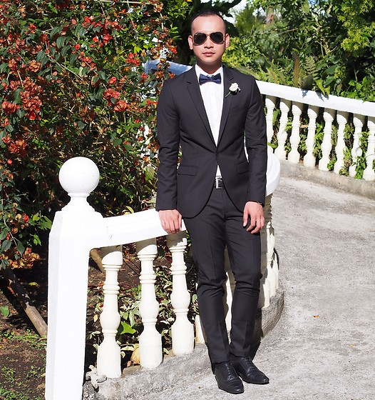 DADA FAB - Ray Ban Sunglass, Topman Coat, Zara Bowtie, Coach Belt, Asos Shoes - Best Man