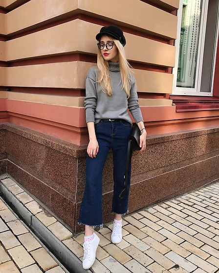 Anna Pogribnyak - Tijn Glasses, Romwe Jeans - Just a random Instagram everyday outfit