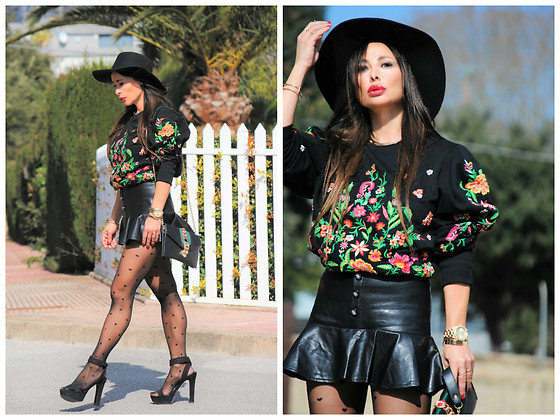 Nekane Smith - Gucci Bag, Zara Sweater, Calzedonia Socks - Pure Passion - Flowers & Hearts Trends
