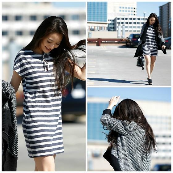 Kimberly Kong - Laila Jayde Striped Dress - The $15 Cardigan:  My Latest Find from BR